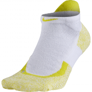 Nike Elite Tennis No-Show Socks - White/Opti Yellow