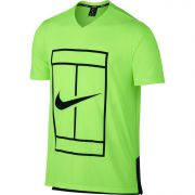 NikeCourt Dry Tennis Top - Gost Green/Black