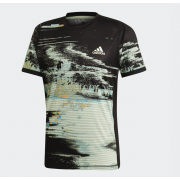 Adidas T-Shirt New York - Black/Glow Green/Flash Orange