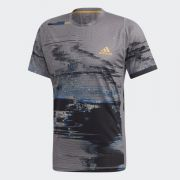 Adidas T-Shirt New York - Grey Three/Black/Flash Orange
