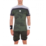 Hydrogen Tech Camo T-Shirt - Green Camouflage/Grey Camouflage