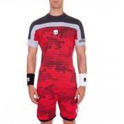 Hydrogen Tech Camo T-Shirt - Red Camouflage/Black
