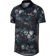 Nike Court Dri-FIT Slam Polo - Black/Canyon Gold