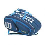 Wilson Tour V 15 bag BL - Bluette/Tourquise/White/Yellow