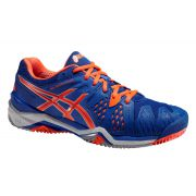 Asics Junior Gel Resolution 6 Gs - Blue/Fluo Orange/Silver