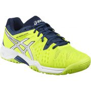 Asics Junior Gel Resolution 6 Gs - Safety Yellow/White/Poseidon