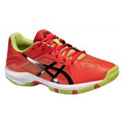 Asics Gel Solution Speed 3 Junior - Orange/Black/Lime