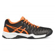 Asics Junior Gel Resolution 7 Gs - Black/Shocking Orange