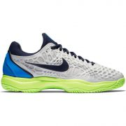 Men's Nike Zoom Cage 3 - Vast Grey/Signal Blue/Volt Glow/Blackened Blue